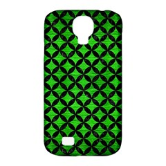 Circles3 Black Marble & Green Brushed Metal (r) Samsung Galaxy S4 Classic Hardshell Case (pc+silicone)