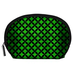 Circles3 Black Marble & Green Brushed Metal (r) Accessory Pouches (large)