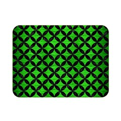 Circles3 Black Marble & Green Brushed Metal (r) Double Sided Flano Blanket (mini)