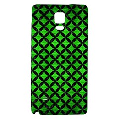 Circles3 Black Marble & Green Brushed Metal (r) Galaxy Note 4 Back Case