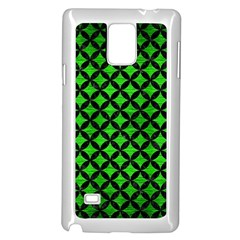 Circles3 Black Marble & Green Brushed Metal (r) Samsung Galaxy Note 4 Case (white)