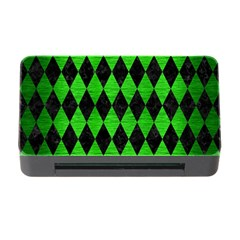 Diamond1 Black Marble & Green Brushed Metal Memory Card Reader With Cf