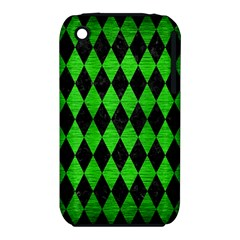 Diamond1 Black Marble & Green Brushed Metal Iphone 3s/3gs