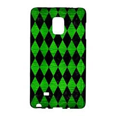 Diamond1 Black Marble & Green Brushed Metal Galaxy Note Edge
