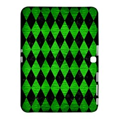 Diamond1 Black Marble & Green Brushed Metal Samsung Galaxy Tab 4 (10 1 ) Hardshell Case