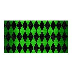 Diamond1 Black Marble & Green Brushed Metal Satin Wrap