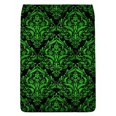 Damask1 Black Marble & Green Brushed Metal Flap Covers (s)