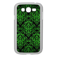 Damask1 Black Marble & Green Brushed Metal Samsung Galaxy Grand Duos I9082 Case (white)