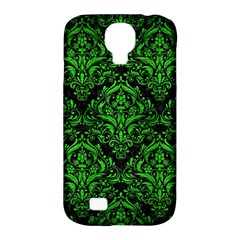 Damask1 Black Marble & Green Brushed Metal Samsung Galaxy S4 Classic Hardshell Case (pc+silicone)
