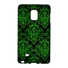 Damask1 Black Marble & Green Brushed Metal Galaxy Note Edge