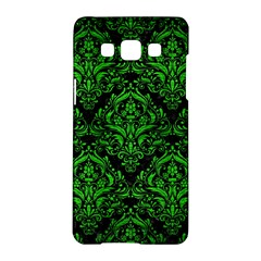 Damask1 Black Marble & Green Brushed Metal Samsung Galaxy A5 Hardshell Case