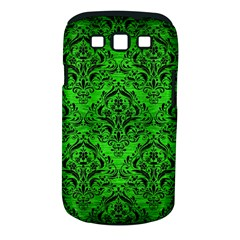 Damask1 Black Marble & Green Brushed Metal (r) Samsung Galaxy S Iii Classic Hardshell Case (pc+silicone)