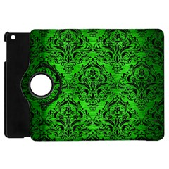 Damask1 Black Marble & Green Brushed Metal (r) Apple Ipad Mini Flip 360 Case