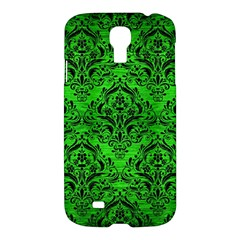 Damask1 Black Marble & Green Brushed Metal (r) Samsung Galaxy S4 I9500/i9505 Hardshell Case