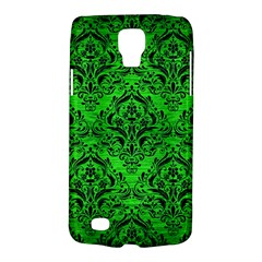 Damask1 Black Marble & Green Brushed Metal (r) Galaxy S4 Active