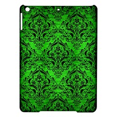 Damask1 Black Marble & Green Brushed Metal (r) Ipad Air Hardshell Cases