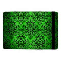 Damask1 Black Marble & Green Brushed Metal (r) Samsung Galaxy Tab Pro 10 1  Flip Case