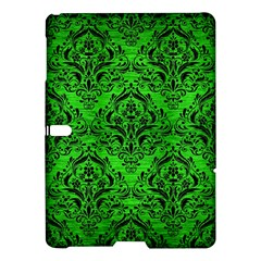 Damask1 Black Marble & Green Brushed Metal (r) Samsung Galaxy Tab S (10 5 ) Hardshell Case
