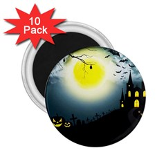 Halloween Landscape 2 25  Magnets (10 Pack)