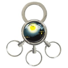 Halloween Landscape 3 Ring Key Chains