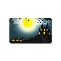 Halloween Landscape Magnet (name Card)