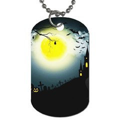 Halloween Landscape Dog Tag (two Sides)