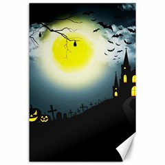 Halloween Landscape Canvas 24  X 36