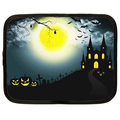 Halloween Landscape Netbook Case (large)