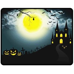 Halloween Landscape Fleece Blanket (medium)