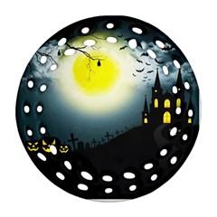 Halloween Landscape Ornament (round Filigree)