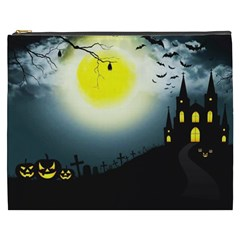 Halloween Landscape Cosmetic Bag (xxxl)