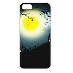 Halloween Landscape Apple Iphone 5 Seamless Case (white)