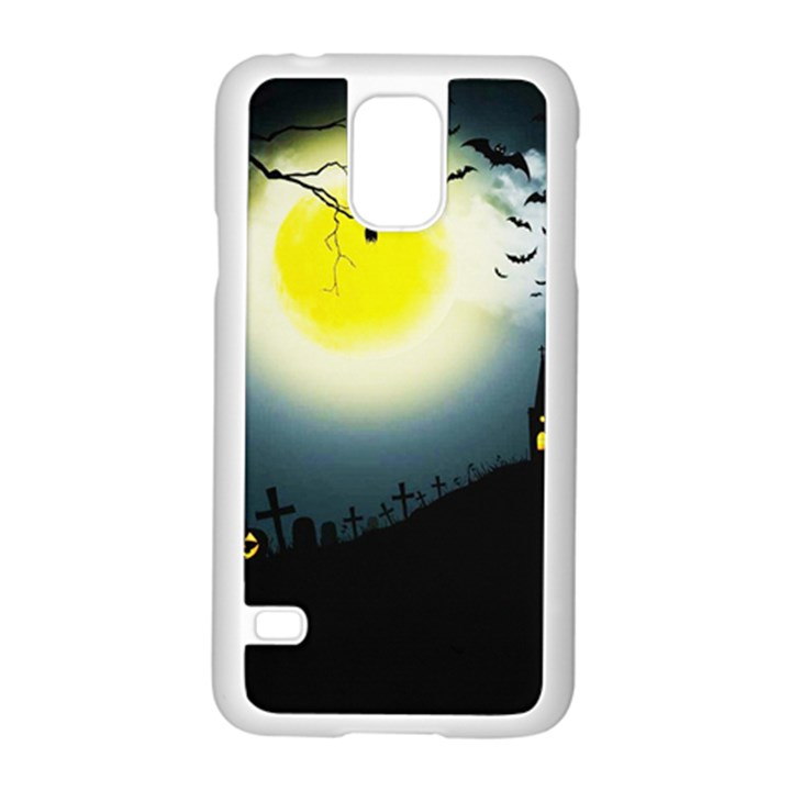 Halloween landscape Samsung Galaxy S5 Case (White)
