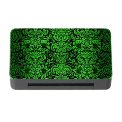 Damask2 Black Marble & Green Brushed Metal Memory Card Reader With Cf