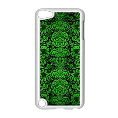 Damask2 Black Marble & Green Brushed Metal Apple Ipod Touch 5 Case (white)