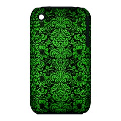 Damask2 Black Marble & Green Brushed Metal Iphone 3s/3gs