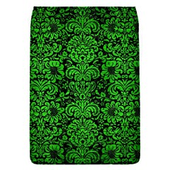 Damask2 Black Marble & Green Brushed Metal Flap Covers (s)