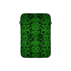 Damask2 Black Marble & Green Brushed Metal Apple Ipad Mini Protective Soft Cases