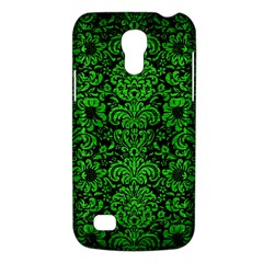 Damask2 Black Marble & Green Brushed Metal Galaxy S4 Mini