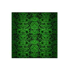 Damask2 Black Marble & Green Brushed Metal Satin Bandana Scarf