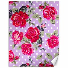 Shabby Chic,pink,roses,polka Dots Canvas 18  X 24
