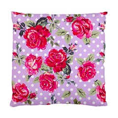 Shabby Chic,pink,roses,polka Dots Standard Cushion Case (one Side)