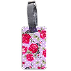 Shabby Chic,pink,roses,polka Dots Luggage Tags (two Sides)