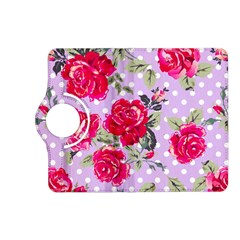 Shabby Chic,pink,roses,polka Dots Kindle Fire Hd (2013) Flip 360 Case