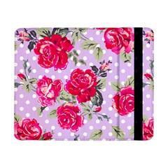 Shabby Chic,pink,roses,polka Dots Samsung Galaxy Tab Pro 8 4  Flip Case