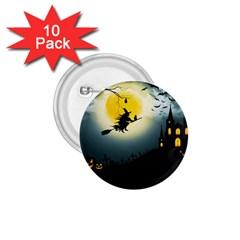Halloween Landscape 1 75  Buttons (10 Pack)