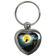 Halloween Landscape Key Chains (heart)