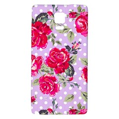 Shabby Chic,pink,roses,polka Dots Galaxy Note 4 Back Case