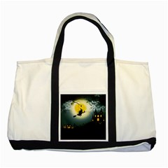Halloween Landscape Two Tone Tote Bag