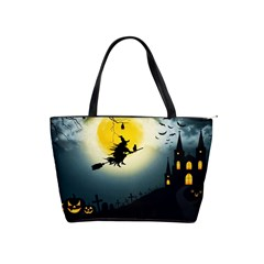Halloween Landscape Shoulder Handbags
